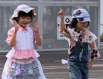 子どもまつりでファッションショー!