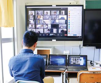 箕面市立中学校でオンライン授業スタート