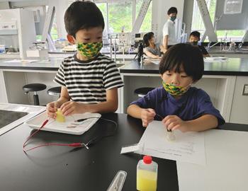 箕面の「ゆず」で電気を作ろう!親子実験教室