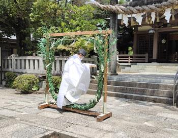 6月の晦日は夏越の大祓で「茅の輪くぐり」