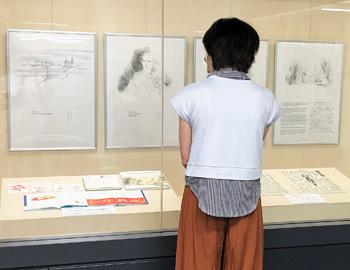 「戦時生活資料展」今年は、絵本画家・いわさきちひろさんの平和パネルも展示