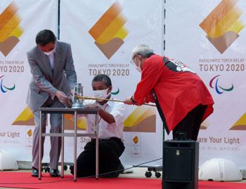 東京2020パラリンピックに灯す、箕面市の採火イベントを開催