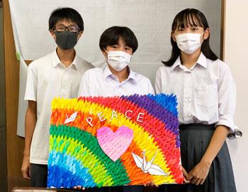 被爆の経験を後世に。第二中学校の3年生が平和への思いを学びました