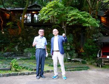 大阪観光局・溝畑理事長が滝道を視察